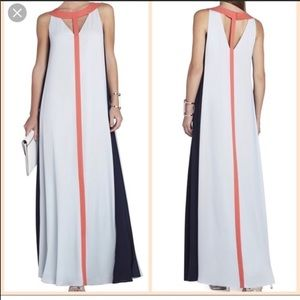 BCBG MaxAzria color block maxi dress!